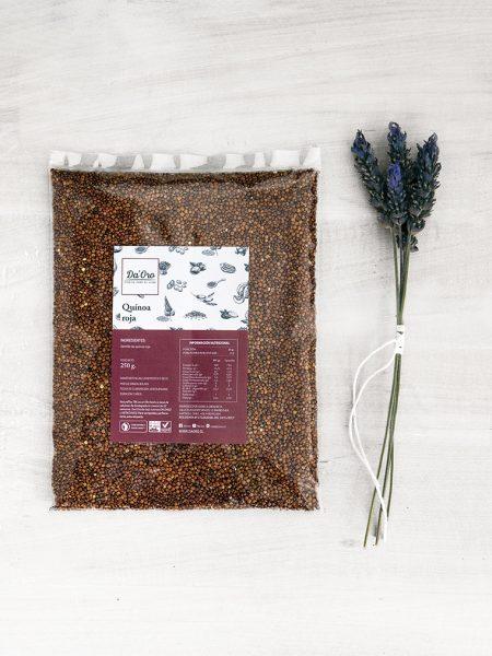 envase de semillas de quinoa roja 250 gramos