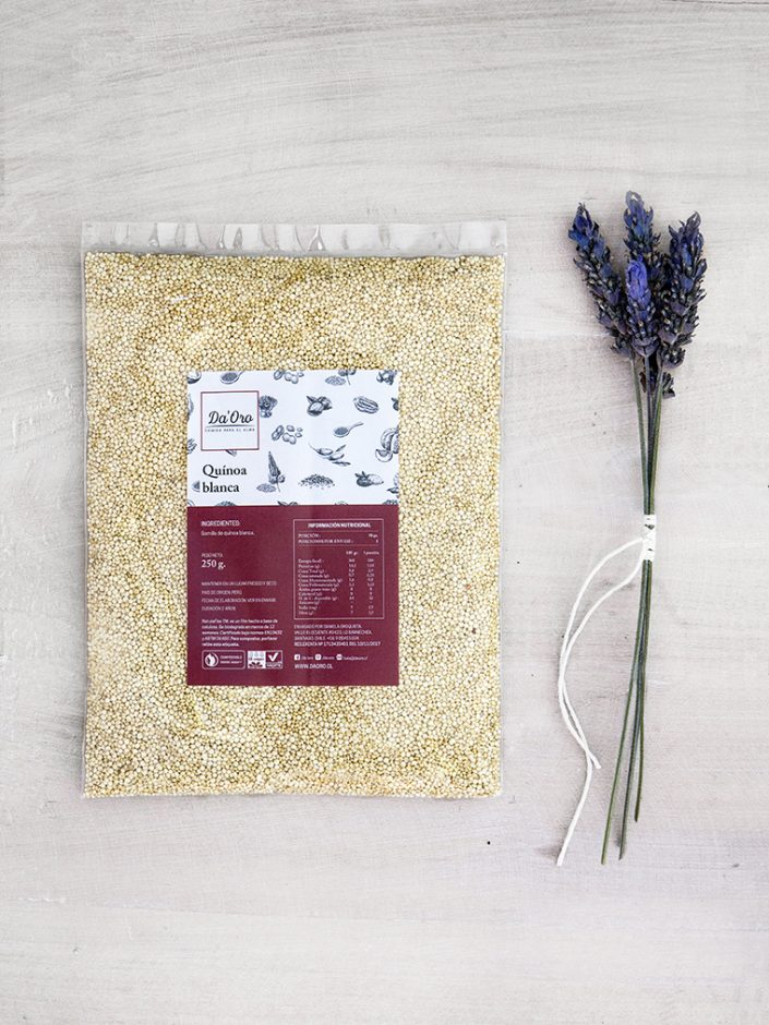 envase de semillas de quinoa blanca 250 gramos