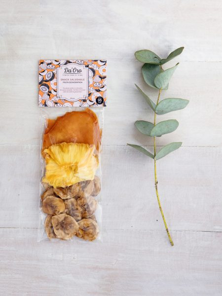 Snack Fruta Tropical en envase compostable
