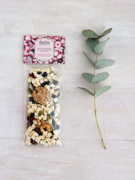 Snack Mix: Manzana y Nuez en envase compostable