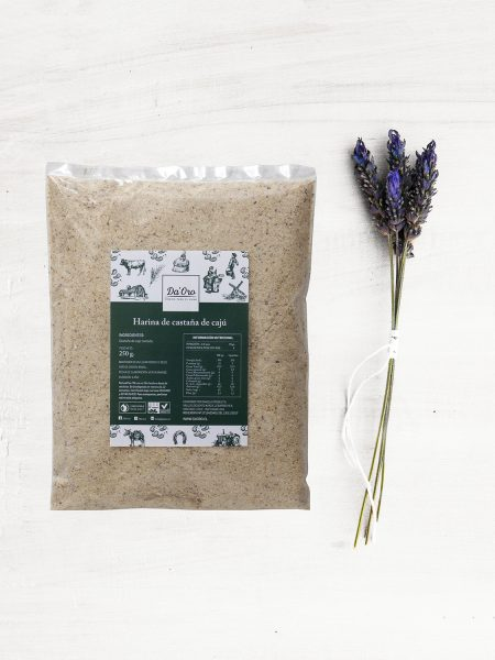 envase de harina de caju 250 gramos
