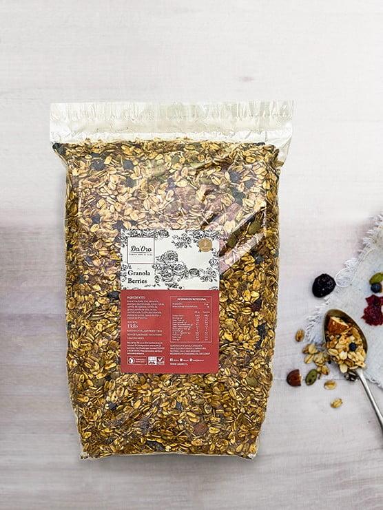 granola sin gluten berries en bolsa