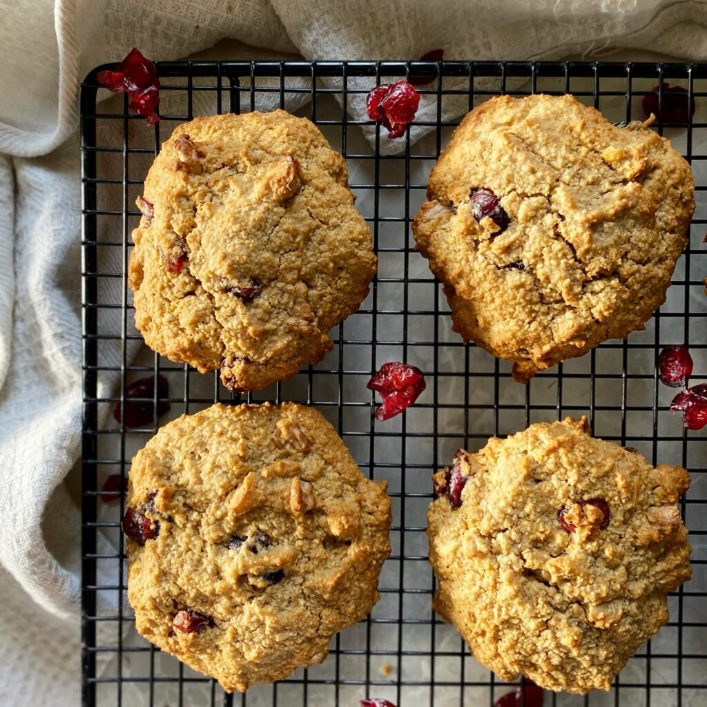 galletas de avena, cranberries y nuez